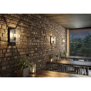 Design-Wandleuchte Graphit 1x E27 Indoor/Outdoor