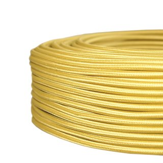 H03VV-F 3*0,75mm² Textilkabel gold super flexibel